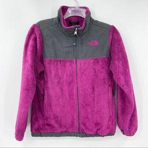 THE NORTH FACE Purple Fleece Jacket Full Zip